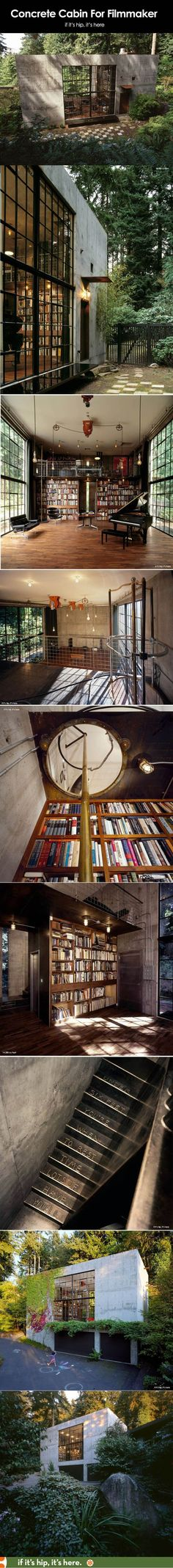 Concrete Cabin For Filmmaker Is A Stunning Space Based On A Garage. - See more at: http://www.ifitshipitshere.com/olson-kundig-the-brain/#sthash.35bTXX8B.dpuf