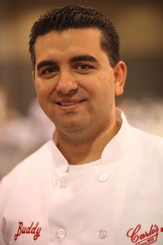 Buddy Valastro (CAKE BOSS). I'm sorry, but he is incredibly adorable. <3 he will be making my wedding cake one day! :D