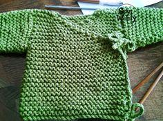 Tejer mangas chaqueta chaleco bebe palillos-Soy Woolly