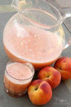 Fresh Peach Lemonade Slush - So, SO good!!!