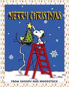 'Merry Christmas', from Snoopy and Woodstock