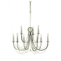 Large Shelby Chandelier in Chrome
