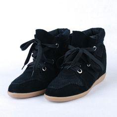 ISABEL MARANT Boston Python Black Sneakers Suede Wedge
