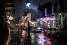 Rainy night in the New Orleans French Quarter