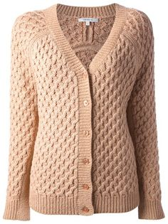 CARVEN Basket Weave Knit Cardigan