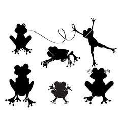 cute-frogs-silhouette-vector-176959.jpg (380×400)