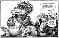 KAL on debt and patience Planet S, The Power Of Love, Good And Evil, Political Cartoons, The Funny, Line Art, Badass, Fairy Tales, Financial Markets