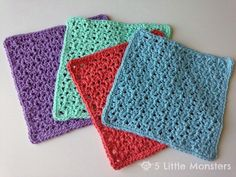 I made these washcloths a few weeks ago as a Mother's Day gift. They are a little bit lacier and more open than I normally use for dishcl...