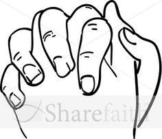 Pink Praying Hands At Clkercom Vector Online clipart