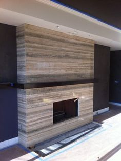 Travertine Fireplaces Design Ideas, Pictures, Remodel, and Decor