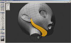 ntnyの妙技が光る!『BREETSCHLAG(ブレットシュラーク)』ヒロイン・華月せいらの3DCGキャラクター化   特集   CGWORLD.jp 3d Model Character, Character Modeling, Character Design, Face Topology, 3d Polygon, Maya Modeling, 3d Computer Graphics, 3d Human, Modelos 3d