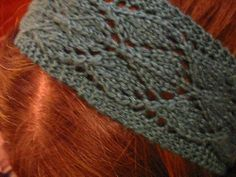 Free Knitted Headband Patterns | new hairpiece. Or in this case, a lacy knitted headband.