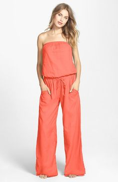 Hard Tail Strapless Shelf Bra Jumpsuit