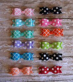12 pack of itty bitty bow headbands  polka dot by InspiredbyZoelle