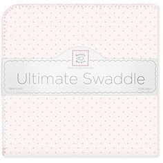 SwaddleDesigns Ultimate Receiving Blanket, Pastel Polka Dots, Pastel Pink * Want to know more, click on the image.