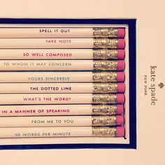Kate Spade pencils - for when I want to be stylish even when taking a test with a scantron!