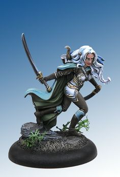Dark Sword miniatures elf fighter