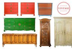 Case Study: Vintage Armoires, Credenzas & Dressers