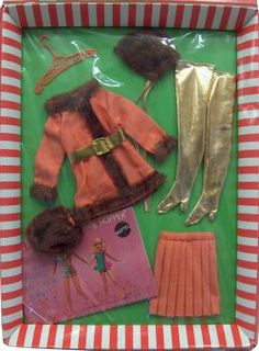 *1969 Fashion winter wow Barbie outfit 2 #1486