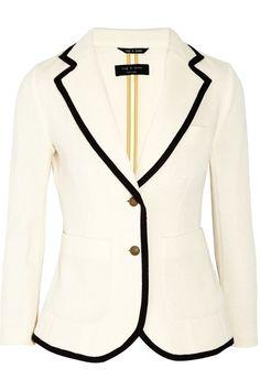 V Neck White Blazers for Women -http://www.loveitsomuch.com/