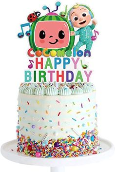 Amazon.com: Cocomelon Birthday Cake Topper , Boy and Girl Kids Party Decoration Supplies , Glitter Paper: Toys & Games 2 Year Old Birthday Party Girl, 1st Boy Birthday, Boy Birthday Parties, Birthday Ideas, Kids Party Decorations, Party Ideas, Olivia Grace, Birthday Cake Toppers, Boy Or Girl
