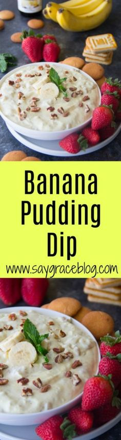 This fun and delicious banana pudding dip is full of flavor and sure to be the life of your next party or festive gathering! Cookbook Recipes, Sweets Recipes, Dip Recipes, Party Recipes, Yummy Recipes, Healthy Recipes, Banana Pudding Dip, Buffalo Chicken Sandwiches, Homemade Vanilla Extract