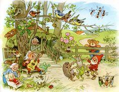 """Fritz Baumgarten """"Teddy's School Walk"""" Art And Illustration, Greek Goddess Art, Baumgarten, Kids Poems, Mushroom Art, Fairy Art, Faeries, Elves, Illustrators"""