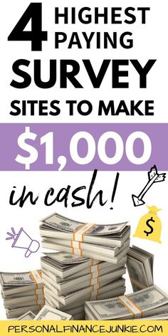 Getting paid extra money for taking surveys is possible – if you know the highest paying survey sites. These survey sites pay real cash via . Surveys That Pay Cash, Online Surveys For Money, Make Money Fast Online, Take Surveys, Ways To Earn Money, Earn Money From Home, How To Get Money, Earning Money, Make Money Taking Surveys