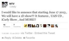 I don't think this is true... they said that they would never want to do a tv show...