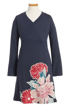Tea Collection Nori Wrap Neck Dress (Toddler Girls, Little Girls & Big Girls) available at #Nordstrom