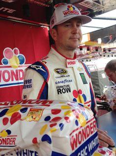 Kurt Busch in Wonder suit for Talladega. #NASCAR #WonderIsBack @Wonder® Bread