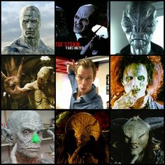 If you think Mark Sheppard and Hugo Weaving are geek gods for the characters they've played, take a look at Doug Jones. Left to right, going down, we have: Silver Surfer from Fantastic Four 2, The Gentleman from Buffy, Cochise from Falling Skies, Pale Man from Pan's Labyrinth, Billy in Hocus Pocus, The Master from The Strain, Angel of Death in Hellboy 2 and The Faun in Pan's Labyrinth. He also starred in Batman Returns, Men in Black 2, Legion, Quarantine and as Abe Sapien in both Hellboy…