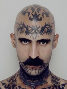 """...tattoos as self-inflicted scars that change and define how they are perceived. I chose subjects that had tattooed their neck, head and/or face, as they can't be hidden, taking their commitment to the highest level.—Carlos Alvarez Montero"