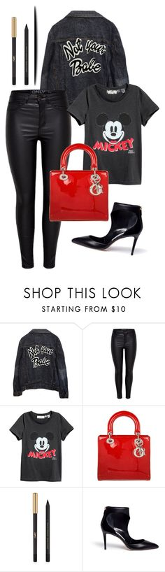 """black mickey"" by dodo85 on Polyvore featuring High Heels Suicide, Christian Dior, Yves Saint Laurent and Jimmy Choo"