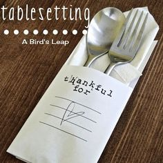 Create simple table settings your guests can personalize. | 30 Cute And Clever Ways To Decorate For Thanksgiving