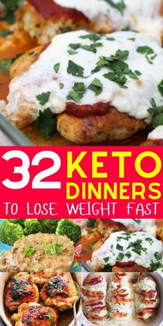 Top keto dinner recipes for quick & easy weeknight meals. If you're wondering 'what should I eat for dinner tonight on keto?' We've got the perfect recipes for you! Try these cheap keto dinner recipes Ketogenic Diet For Beginners, Ketogenic Recipes, Low Carb Recipes, Diet Recipes, Healthy Recipes, Soup Recipes, Dessert Recipes, Smoothie Recipes, Chili Recipes