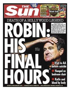"The Sun : ""Robin: His final hours"" 