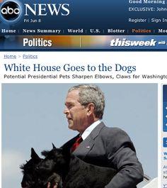 President Bush & His Scotties