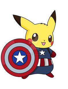 Captain Pikachu by on DeviantArt Pichu Pokemon, O Pokemon, Pokemon Comics, Cute Pokemon Wallpaper, Cute Disney Wallpaper, Cute Cartoon Wallpapers, Kawaii Drawings, Disney Drawings, Cute Drawings