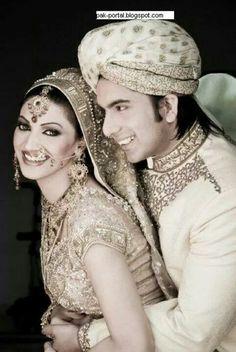 Pakistani film actress Sana with her hubby