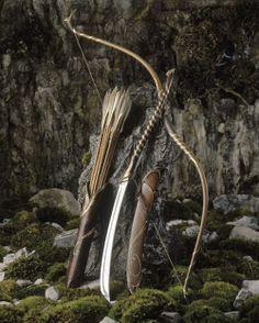Arco e flecha medieval