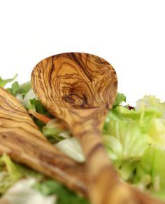 "Salatbesteck ""Belvedere"" aus Olivenholz 30 cm   treevoli"