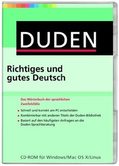 Richtiges und gutes Deutsch: das Wörterbuch der sprachlichen Zweifelsfälle. cd-rom. Plaats: DUITS 801.5 DUDE