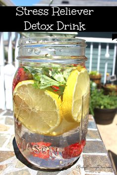 Stress Reliever Detox Drink Recipe