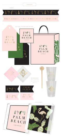 Emily McCarthy Brand | Palm Beach Lately Marketing Materials | www.emilymccarthy.com #branding