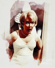 Painting - June Whitfield, Carry On Films Cast by Esoterica Art Agency , Cast Art, Classic Comedies, Thing 1, British Comedy, British Actresses, Film Posters, All Print, Carry On, Fine Art America