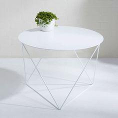 Eric Trine Octahedron Side Table   White