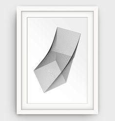 Geometric Print Abstract Art Minimalist Wall Art by GalliniDesign