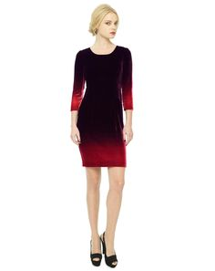 Berry Velvet Dip Dye Dress #EdinaRonayRL #DipDye #AW12
