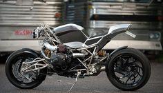 BMW engine in home built bike